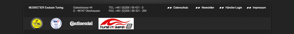 MUSKETIER Exclusive Tuning